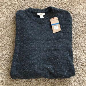 Dockers Crew Neck Sweater Gray SZ XL NWT